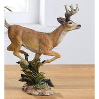 "8"" Woodland Inspired Prancing Reindeer Christmas Figure - brown"