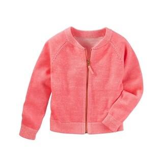 OshKosh B'gosh Big Girls' Raglan Sweater, Coral, 10 Kids