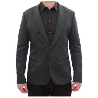 Dolce & Gabbana Dolce & Gabbana Green silk slim fit blazer - it52-xl
