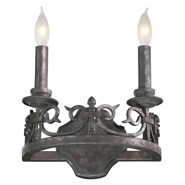 Quorum International 5293-2 Lorenco 2 Light Wall Sconce