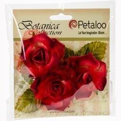 "Red/Burgundy - Botanica Fairy Rose Buds 1.75"" 3/Pkg"