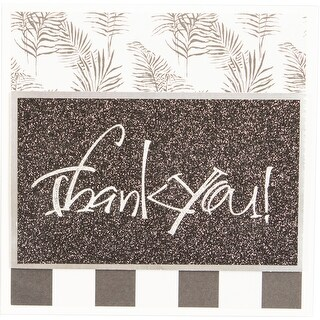Spellbinders Glimmer Impression Plate-Thank You