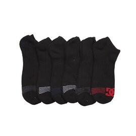 DC 6-Pack Men's Sport No Show Socks Assorted, 10-13 Size