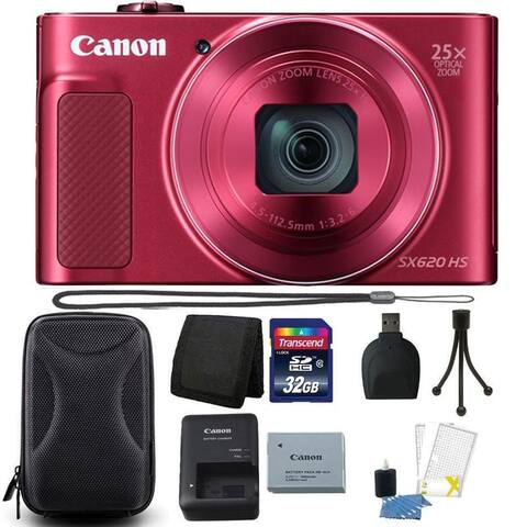 Canon PowerShot SX620 HS 20.2MP 25X Zoom Red Digital Camera 32GB
