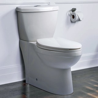 Miseno MNO490EC  High Efficiency Dual Flush 1.1/1.6 GPF Two-Piece Elongated Chair Height Toilet with Slow-Close Seat and Wax