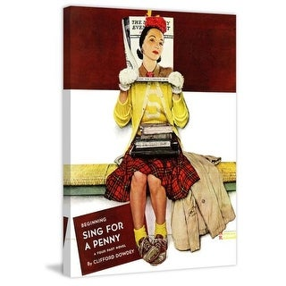 Marmont Hill Cover Girl Norman Rockwell Painting Print on Canvas