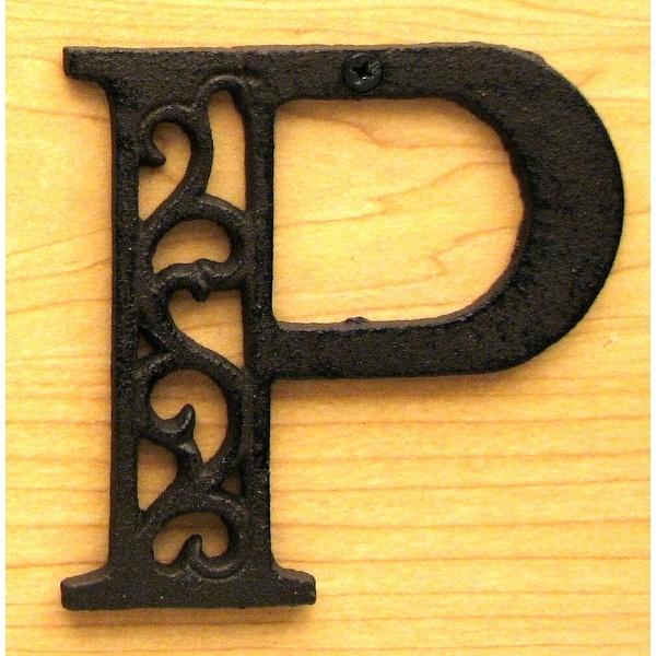 Cast Iron Letter P