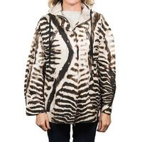 Moncler Tumpe Gamme Rouge Animal Print Jacket Women's