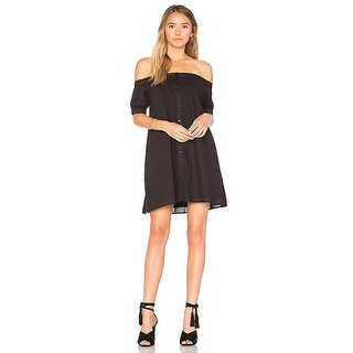 The Fifth Label Women's sun Valley Black Off Shoulder dress