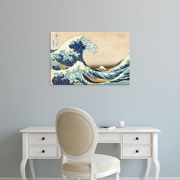 Easy Art Prints Katsushika Hokusai's 'The Great Wave off Kanagawa' Premium Canvas Art