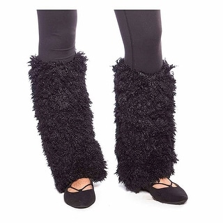 Furry Poodle Knit Winter Leg Warmers with Lining