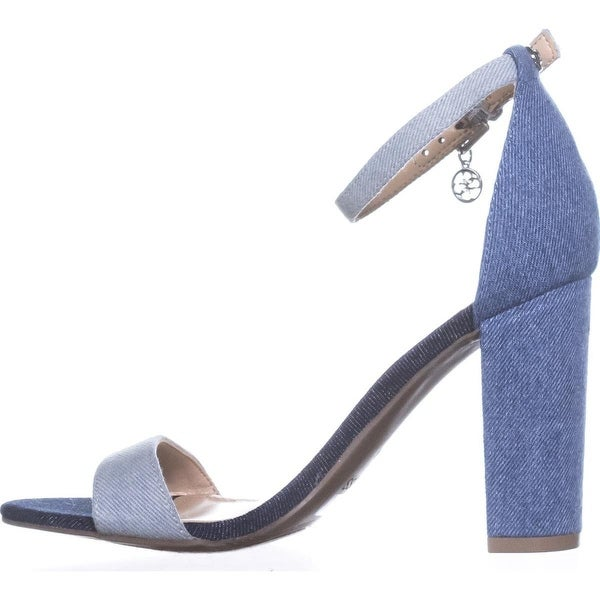 GUESS Womens bamboo2 Fabric Open Toe Casual Ankle Strap Sandals