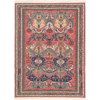ECARPETGALLERY Flat-weave Dynasty Dark Pink Wool Tapestry Kilim - 8'5 x 11'4