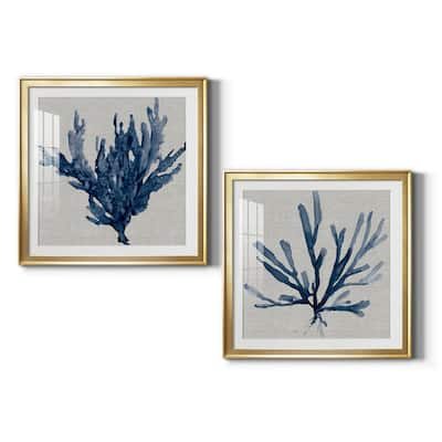 Linen Sea Coral I Premium Framed Print - Ready to Hang