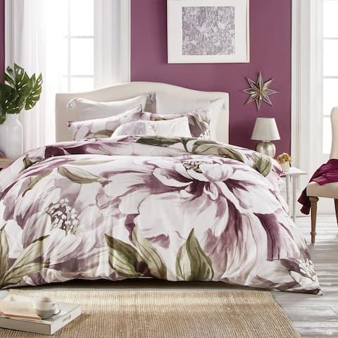 Jacinda Floral Bloom Cotton Sateen Comforter and Sham Set