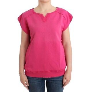Balmain Pink short sleeve sweatshirt