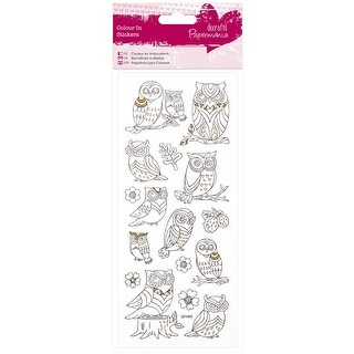 Papermania Glitter Colour In Stickers-Owls