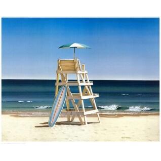''Life Stand'' by Daniel Pollera Coastal Art Print (24 x 30 in.)