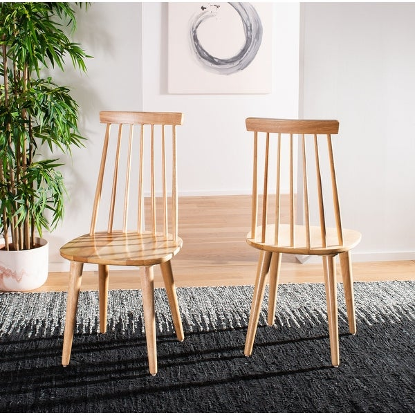 "Safavieh Country Classic Dining Burris Natural Dining Chairs (Set of 2) - 17.3"" x 20.7"" x 36"". Opens flyout."