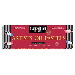 Sargent Art Regular Oil Pastel, Assorted Colors, Pack of 25