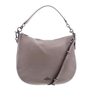 Coach Womens Chelsea Hobo Handbag Pebbled Convertible - MEDIUM