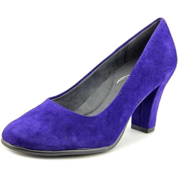 Aerosoles Dolled Up Women Round Toe Suede Blue Heels