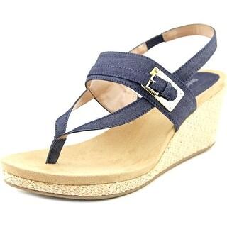 Style & Co Jodii Open Toe Canvas Wedge Sandal