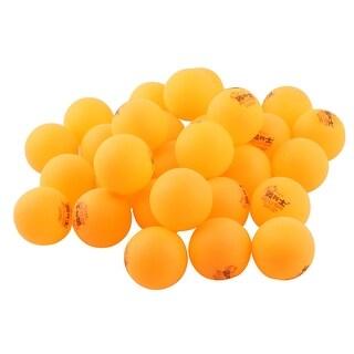 Unique BargainsSport Training Plastic Table Tenni Washable Ping Pong Ball Orange 40mm Dia 30pcs