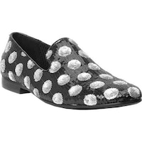 4c23cb9ea20 Shop Giorgio Brutini Men s Covert Smoking Loafer Black Sequins ...