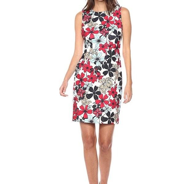 606b2fe9 Shop Tommy Hilfiger Women's Floral Scuba Sheath Dress - Free ...