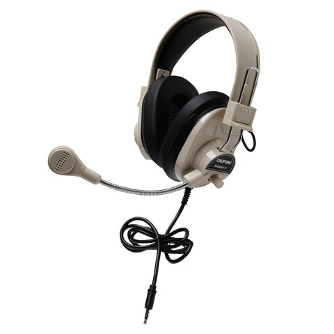 Califone 3066AVT Deluxe Multimedia Stereo Headset with To Go Plug