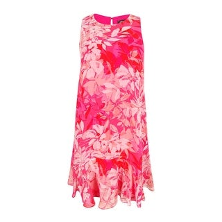 Vince Camuto Women's Sleeveless Floral Print Dress - 2