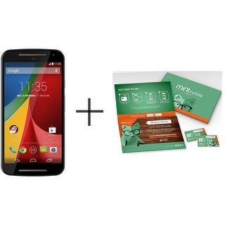 Motorola Moto G (2nd Gen.) XT1065 8GB Unlocked GSM US Version Phone - with Free 3 Month Mint Service + 5GB of Data ($60 Value)