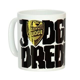 Judge Dredd 2000AD Character And Script Logo Design Ceramic Drinking Mug (Tea, Cocoa, Coffee)