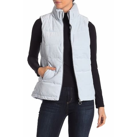 Gerry Sky Blue Womens Size Large L Jade Puffer Mock Neck Vest