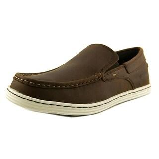 Sebago Barnet Slip On Men  Moc Toe Leather Brown Loafer