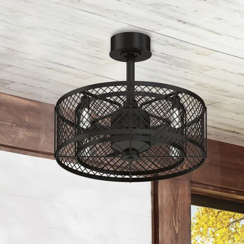 Fanimation Studio Collection Vintere Aged Bronze LED Ceiling Fan