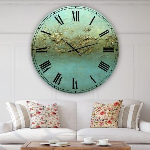 Porch & Den [Clock] Ocean Dreams' Large Aluminum Wall Clock