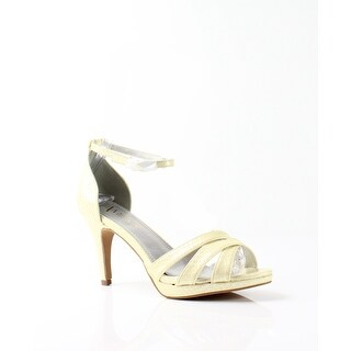 Amiana NEW Yellow Women's Shoes Size 8M Snake Embossed Sandal