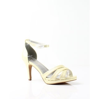 Amiana NEW Yellow Women's Shoes Size 9M Snake Embossed Sandal