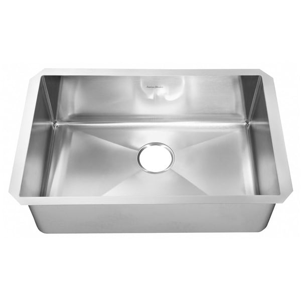 "American Standard 18SB.10351800 Pekoe 35"" Single Basin Stainless Steel Kitchen Sink for Undermount Installations - Drain"