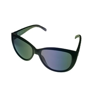 Esprit Womens Black Fashion Plastic Sunglass Cateye, Smoke Lens 19378 538 - Medium
