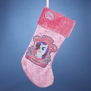 """Pack of 6 My Little Pony Rarity Applique Stocking 19"""""""