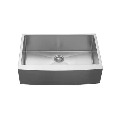 Karran Farmhouse Apron Front Stainless Steel 33 in. Single Bowl Sink
