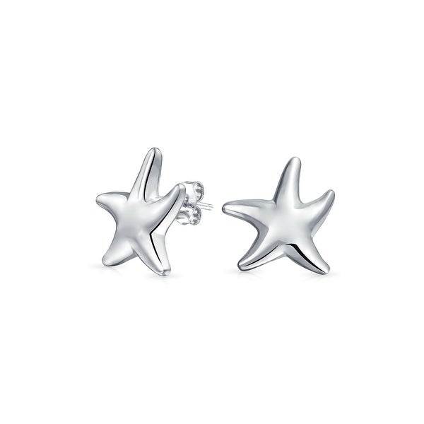 e4bf46fac Shop Nautical Ocean Sea Beach Small Starfish Stud Earrings For Women For  Teen Shinny 925 Sterling Silver - On Sale - Free Shipping On Orders Over  $45 ...