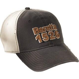 Beretta bc73919499 beretta cap two tone 1526 logo cotton black/white