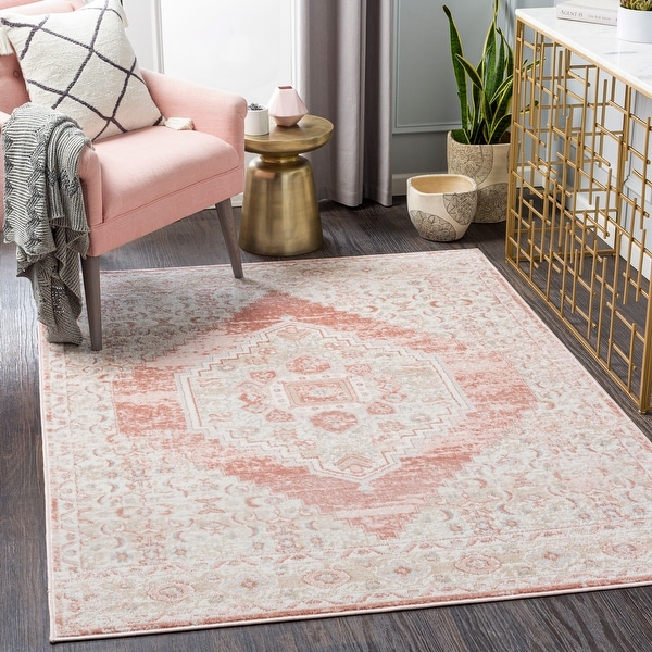 Neal Distressed Persian Medallion Area Rug. Opens flyout.