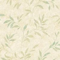 Brewster DLR54512 Sanibel Beige Leaf Trail Wallpaper - beige leaf - N/A