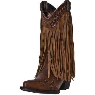 "Dingo Fashion Boots Womens Heart Throb 12"" Shaft Leather Brown DI7445"