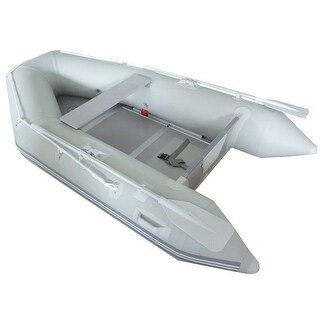 Costway Inflatable Boat Tender Raft Dinghy With Floor - as pic